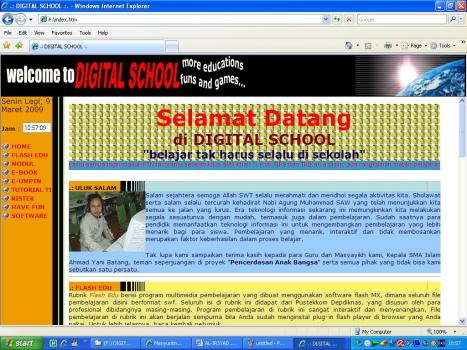 Tampilan Digital School
